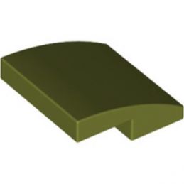 LEGO 6312473 PLATE W. BOW 2X2X2/3 - OLIVE GREEN lego-6312473-plate-w-bow-2x2x23-olive-green ici :