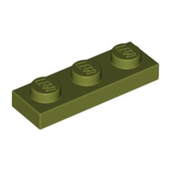 LEGO 6278088 PLATE 1X3 - OLIVE GREEN lego-6278088-plate-1x3-olive-green ici :