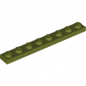 LEGO 6278034 PLATE 1X8 - OLIVE GREEN lego-6278034-plate-1x8-olive-green ici :