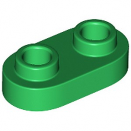LEGO 6210271 PLATE 1X2, ROUNDED - DARK GREEN lego-6210271-plate-1x2-rounded-dark-green ici :