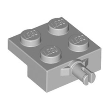 LEGO 6371448 BEARING ELEMENT 2X2, SINGLE - MEDIUM STONE GREY