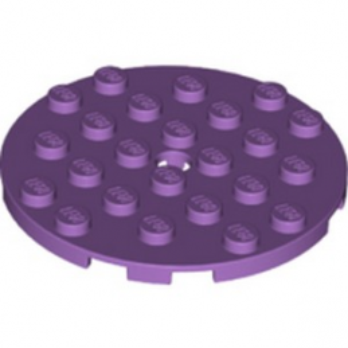 LEGO 6329950 PLATE 6X6 ROUND - MEDIUM LAVENDER lego-6329950-plate-6x6-round-medium-lavender ici :