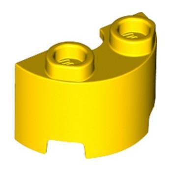 LEGO 6311385 WALL ½ CIRCLE, 1X2, W/ 4.85 HOLE - YELLOW