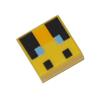 LEGO 6335369 IMPRIME MINECRAFT 1X1 - JAUNE