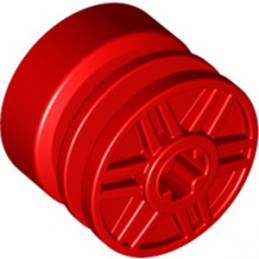 LEGO 6280365 RIM WIDE 18x14 W. CROSS Ø4.8 - RED lego-6280365-rim-wide-18x14-w-cross-o48-red ici :