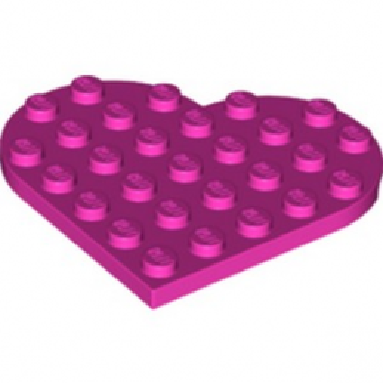 LEGO 6289136 PLATE 6X6, HEART - DARK PINK lego-6289136-plate-6x6-heart-dark-pink ici :
