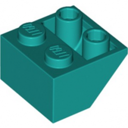 LEGO 6267698 ROOF TILE 2X2/45 INV - BRIGHT BLUEGREEN