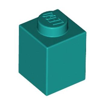 LEGO 6213776 BRICK 1X1 - BRIGHT BLUEGREEN