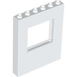 LEGO 6055192 WALL 1X6X6 W. WINDOW - WHITE lego-6055192-wall-1x6x6-w-window-white ici :