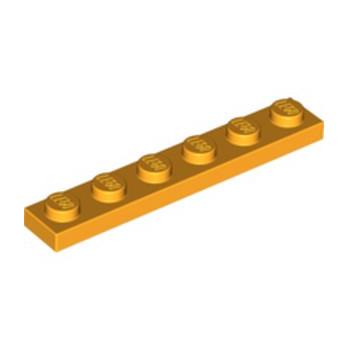 LEGO 6020074 PLATE 1X6 - FLAME YELLOWISH ORANGE lego-6020074-plate-1x6-flame-yellowish-orange ici :