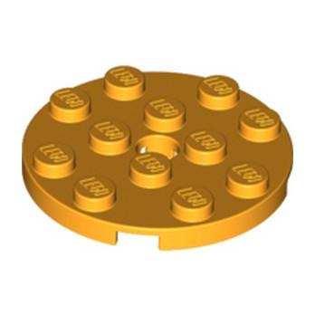 LEGO 6115115 PLATE ROND 4X4 - FLAME YELLOWISH ORANGE