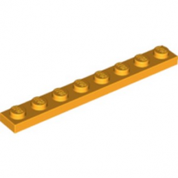 LEGO 6192205 Plate 1X8 - FLAME YELLOWISH ORANGE