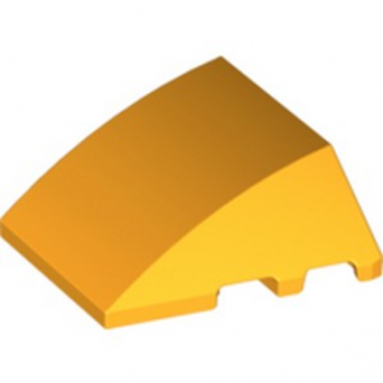 LEGO 6133930  BRIQUE 4X3 W. BOW/ANGLE - FLAME YELLOWISH ORANGE