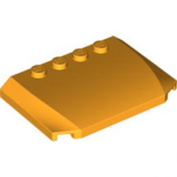LEGO 6186650 CAPOT 4X6X2/3 - FLAME YELLOWISH ORANGE