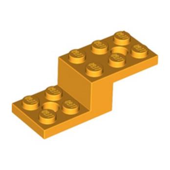 LEGO 6233490 STONE 1X2X1 1/3 W. 2 PLATES 2X2 - FLAME YELLOWISH ORANGE