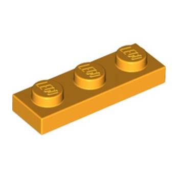 LEGO 6073042 PLATE 1X3 - Flame Yellowish Orange