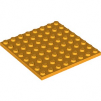 LEGO 6211409 PLATE 8X8 - FLAME YELLOWISH ORANGE