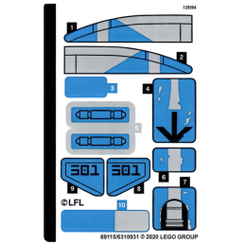 Stickers / Autocollant Lego Star Wars 75280