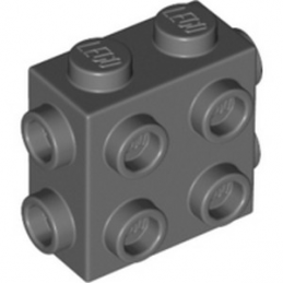 LEGO 6314192 BRICK 1X2X1 2/3, W/ 8 KNOBS - DARK STONE GREY lego-6314192-brick-1x2x1-23-w-8-knobs-dark-stone-grey ici :