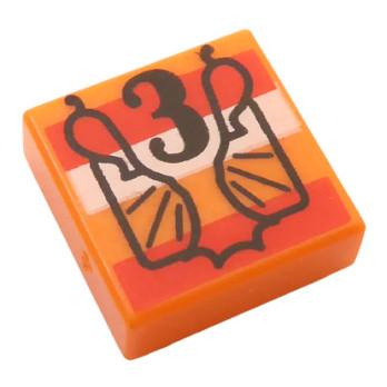 LEGO 6314913 FLAT TILE 1X1 PRINTED HARRY POTTER