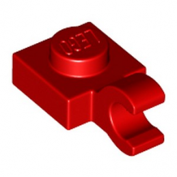 LEGO 4524644 PLATE 1X1 W/HOLDER VERTICAL - ROUGE lego-4524644-plate-1x1-wholder-vertical-rouge ici :