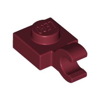 LEGO 6360110 PLATE 1X1 W/HOLDER VERTICAL - NEW DARK RED