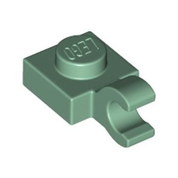 LEGO 6360112 PLATE 1X1 W/HOLDER VERTICAL - SAND GREEN
