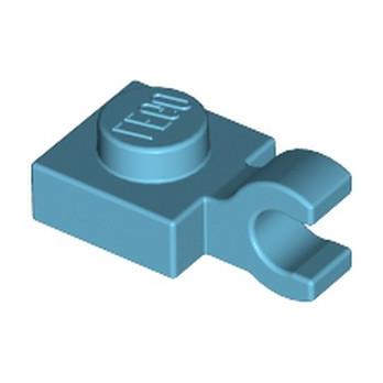 LEGO 6176255 PLATE 1X1 W/HOLDER VERTICAL - MEDIUM AZUR