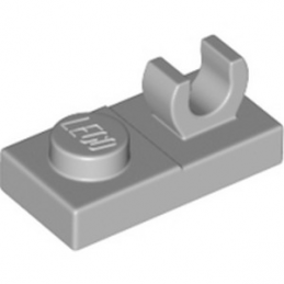 LEGO 6326078 PLATE 1X2 W. VERTICAL GRIP - MEDIUM STONE GREY