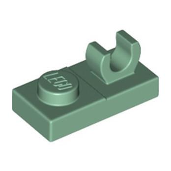 LEGO 4625236 PLATE 1X2 W. VERTICAL GRIP - Sand Green lego-4625236-plate-1x2-w-vertical-grip-sand-green ici :