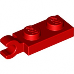LEGO 4534648 PLATE 2X1 W/HOLDER,VERTICAL - ROUGE