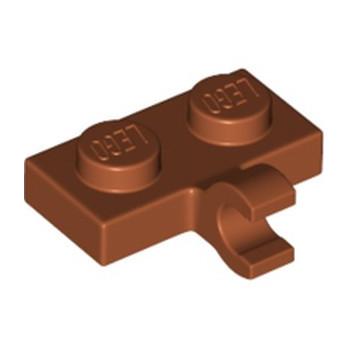 LEGO 6186049 PLATE 1X2 W. 1 HORIZONTAL SNAP - DARK ORANGE