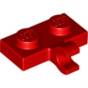 LEGO 6178488 PLATE 1X2 W. 1 HORIZONTAL SNAP - ROUGE