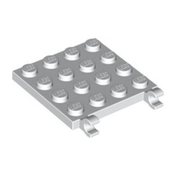 LEGO 6030965 PLATE 4X4 W/VERTICAL HOLDER - BLANC