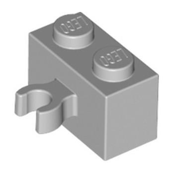 LEGO 4641682 BRIQUE 1X2 W. HORIZONTAL HOLDER - MEDIUM STONE GREY