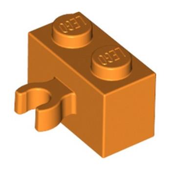 LEGO 6131666 BRIQUE 1X2 W. HORIZONTAL HOLDER - ORANGE