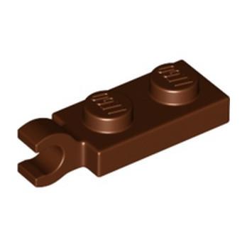 LEGO 6338135 PLATE 2X1 W/HOLDER,VERTICAL - REDDISH BROWN lego-6338135-plate-2x1-wholdervertical-reddish-brown ici :