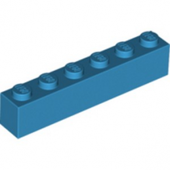 LEGO 6225539 BRIQUE 1X6 - DARK AZUR