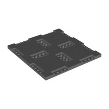 LEGO 6325635 PLATE 16X16X2/3, W/ 8 CUT OUT - DARK STONE GREY lego-6325635-plate-16x16x23-w-8-cut-out-dark-stone-grey ici :