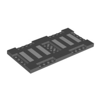 LEGO 6328358 PLATE 8X16X2/3, W/ 6 CUT OUT - DARK STONE GREY lego-6328358-plate-8x16x23-w-6-cut-out-dark-stone-grey ici :