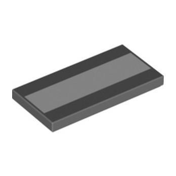 LEGO 6329624 FLAT TILE 2X4 - DARK STONE GREY