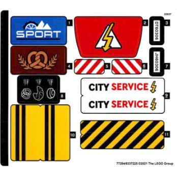 Stickers Lego CITY 60306 stickers-lego-city-60306 ici :