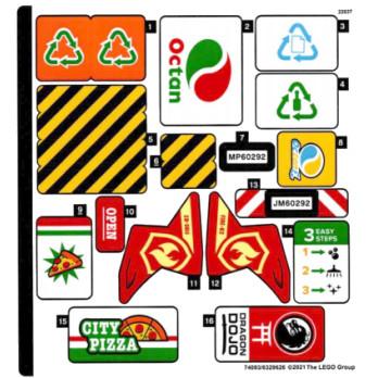 Stickers Lego CITY 60292 stickers-lego-city-60292 ici :