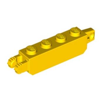 LEGO 4140705 BRIUE 1X4 FRIC/STUB/FORK VERT - JAUNE
