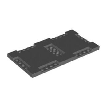 LEGO 6325431 PLATE 8X16X2/3, W/ 6 CUT OUT - DARK STONE GREY lego-6325431-plate-8x16x23-w-6-cut-out-dark-stone-grey ici :