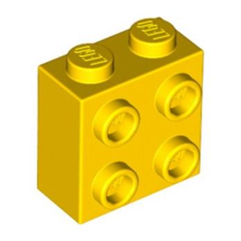 LEGO  6313592 BRICK 1X2X1 2/3 W/4 KNOBS  - YELLOW lego-6313592-brick-1x2x1-23-w4-knobs-yellow ici :