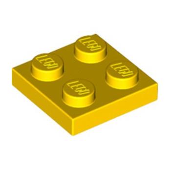 LEGO 302224  PLATE 2X2 - JAUNE