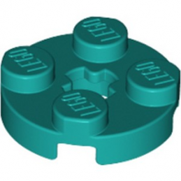 LEGO 6210400 PLATE 2X2 ROND - BRIGHT BLUEGREEN