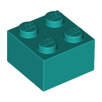 LEGO 6314091 BRICK 2X2 - BRIGHT BLUEGREEN lego-6314091-brick-2x2-bright-bluegreen ici :