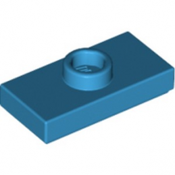 LEGO 6151671 PLATE 1X2 W. 1 KNOB - DARK AZUR lego-6151671-plate-1x2-w-1-knob-dark-azur ici :